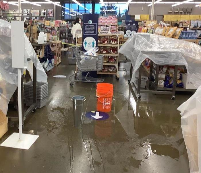 Leaking caused significant damage in this Flagstaff, Arizona store. Storm damage and water damage restoration is what we do