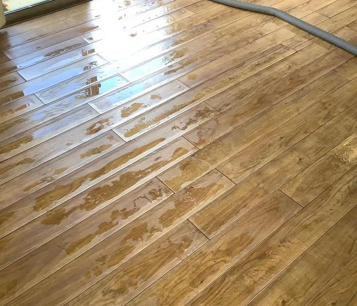 A very wet floor in a home in Flagstaff, Arizona
