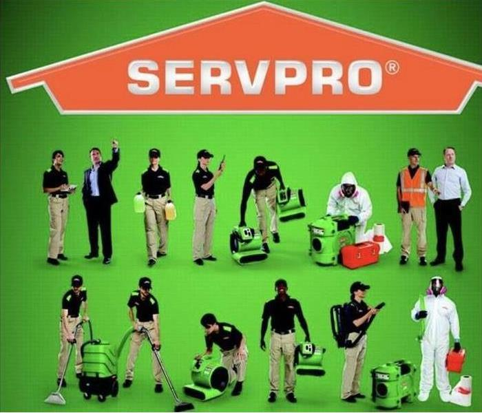 The logo for SERVPRO of Flagstaff/East Sedona. Call us for remediation and cleaning services in Northern Arizona